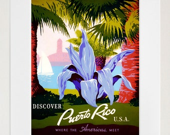 Puerto rico art etsy for Acanthus decoration puerto rico