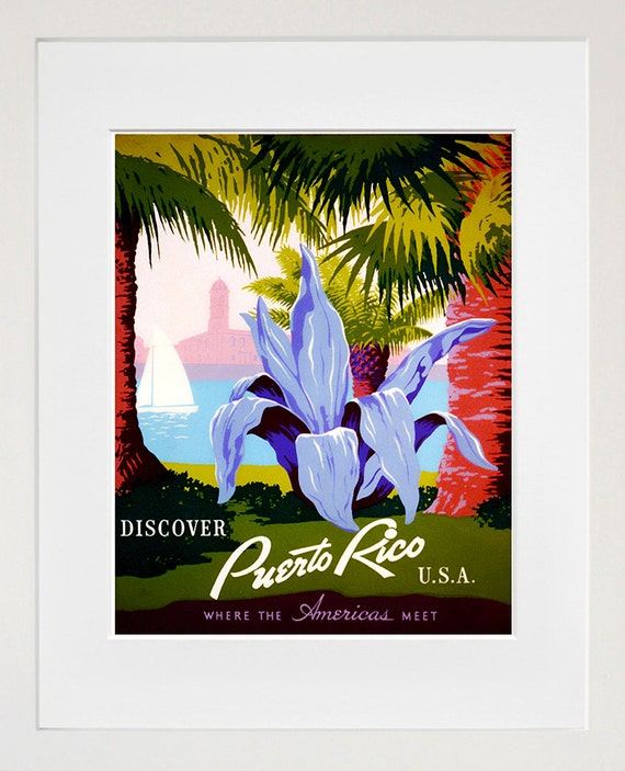Home Interiors Puerto Rico: Puerto Rico Travel Poster Home Decor Wall Art By Blivingstons