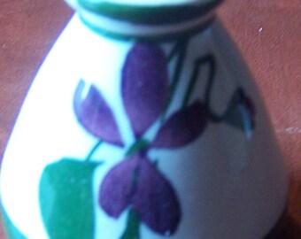Vintage stoneware Devon Violets perfume bottle Made in Great Britain