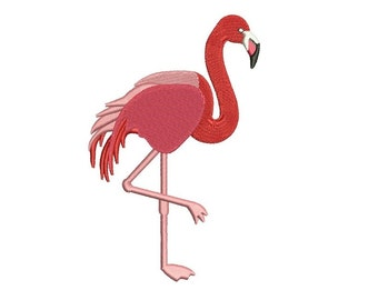 Flamingo Filled Digitized Machine Embroidery Design Pattern - Instant Download - 4x4 , 5x7, 6x10