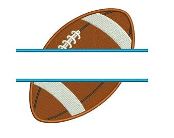 Football Split Sideways Filled Sport Machine Embroidery Digitized Design Pattern- Instant Download -  4x4 , 5x7, and 6x10 hoopss