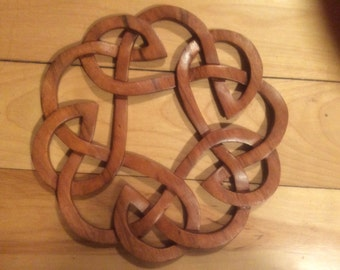 Celtic knot.....Celtic wood carving