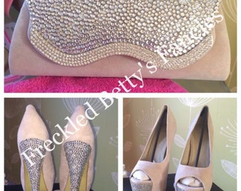 Crystal Bag/Heels set - made to order