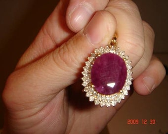 Super big Ruby diamonds pendant