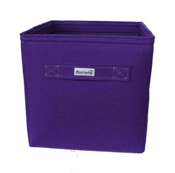 violet felt storage boxes fit into ikea expedit and kallax. Black Bedroom Furniture Sets. Home Design Ideas