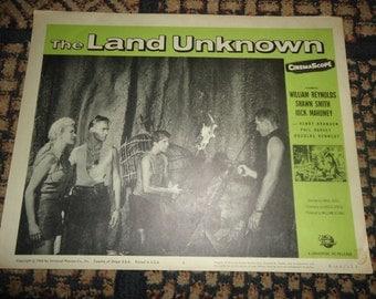Original 1964 The Land Unknown Movie Poster Lobby Card Jock Mahoney William Reynolds
