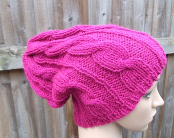knitted cable hat summer hat women's hat summer warm hat made to older