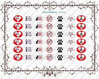 Animal Cruelty Awareness - 5/8 Oval  paracord charm download