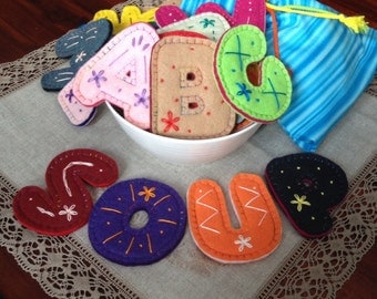Alphabet Soup - Flat Embroidered Alphabet Letters For Kids