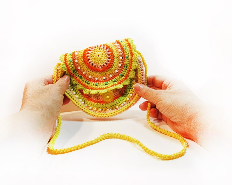Crochet Small Purse : small purse. boho bag crochet Hand crochet Purse by PetsLair
