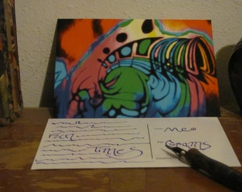 Abstract Tunnel Vision Postcard