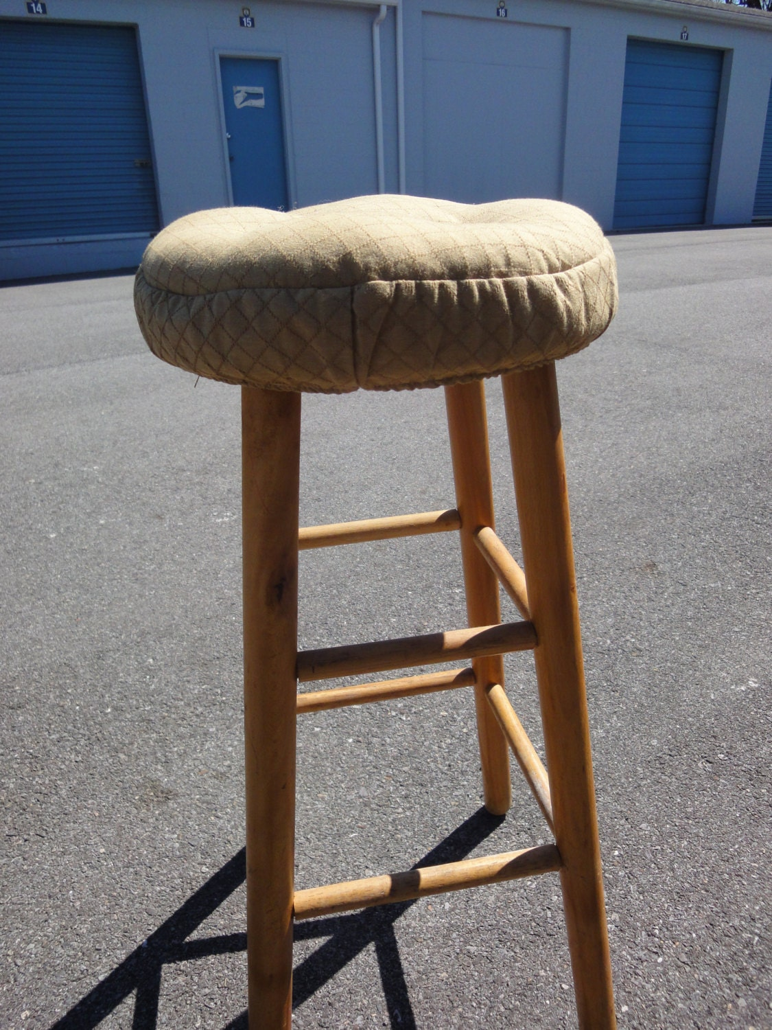 Vintage 1950's Bar Stool with Cushion Seat/Central Chair