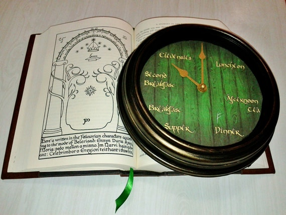 Bag End Hobbit meal time clock