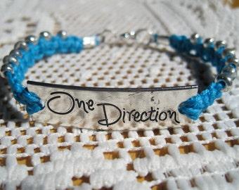 Macrame Hemp Bracelet w/ One Direction Connector