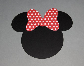 15 - Minnie Mouse Head • Silhouettes • Die Cuts • Party Decorations