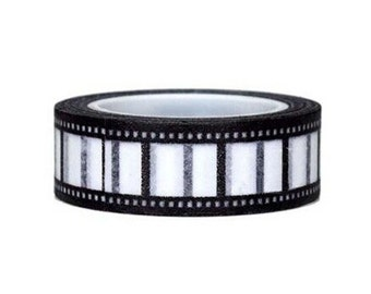Black and White Camera Film Washi Tape, Film Washi Tape