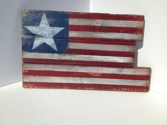 Rustic american flag wooden patriotic decor for American flag decoration