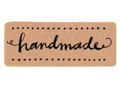 "Set of 18 2"" wide Handmade Rectangle Kraft Stickers/ Kraft Paper / Envelope Seals / Labels / Gift Embellishment / Wedding Stamps"