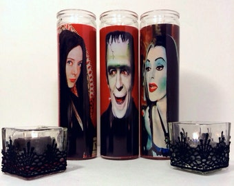 Herman Munster Prayer Candle in Red
