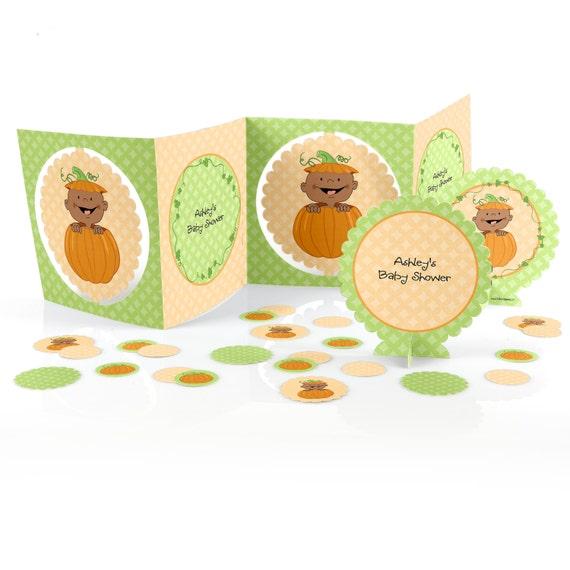 Little pumpkin centerpiece kit 39 piece decoration kit for African skin decoration