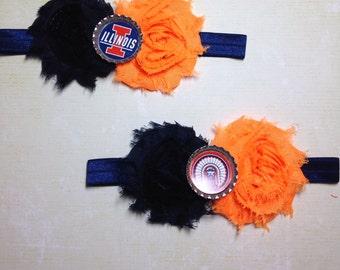 University of Illinois Shabby Headband