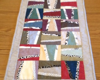 "Modern pieced table runner - handmade - 15""x43"", Ready to Ship"