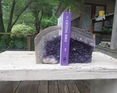 Uruguayan Amethyst Geode # 91  Book-End Set with Polished Face