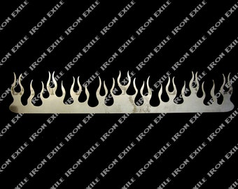 "24"" Metal Flame for Hot Rod Rat Rod Street Rod Chopper Bobber Motorcycle Painter's Stencil"