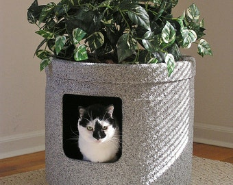 Champagne Grey Stonecoat Cont Ivy Cat Hidden Litter Box with LINER PAN
