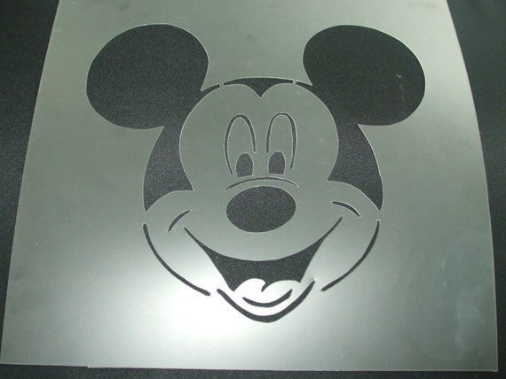 "Items Similar To Mickey Mouse Stencil #28 8.9"" X 8.2"" Re"