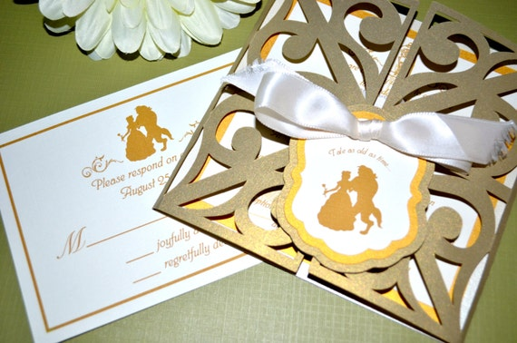 Beauty And The Beast Themed Wedding Invitations: Fairy Tale Wedding Invitations Beauty And The Beast Gate