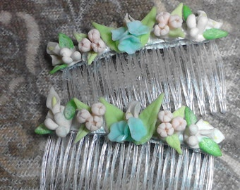 Hair combs Spring Blossoms hair combs Hair accessories fashion combs Easter