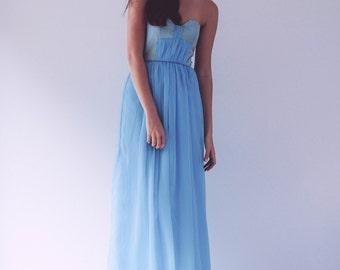 Sweet Bow Maxi Dress - Sample Sale