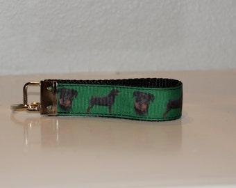 Rottweiler Key Fob - 1 inch
