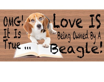 Beagle Wood Signs - Beagle GS424
