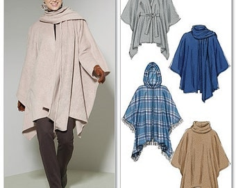 McCall's Pattern M6209 Misses' Ponchos and Belt