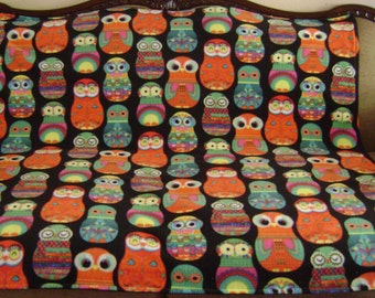 Colorful Owl Blanket