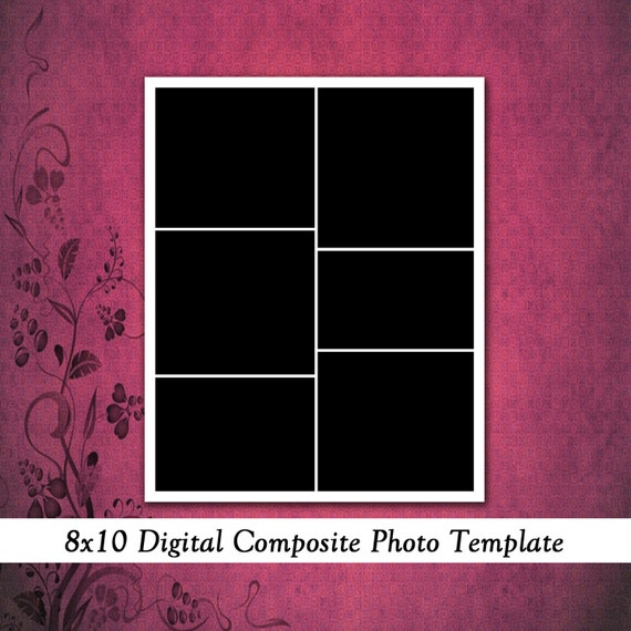items similar to 8x10 digital photo template photography template wedding album template. Black Bedroom Furniture Sets. Home Design Ideas