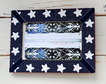 Star picture frame covered with fabric
