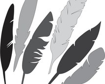 Feathers SVG and DXF File