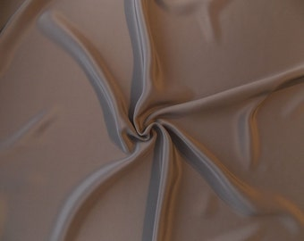 SALE - 20% OFF - 4-ply Silk Crepe Fabric by the Yard - Stone / Taupe