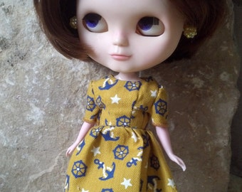 Anchors Away Dress for Blythe