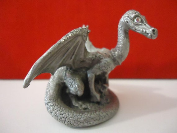 Etsy your place to buy and sell all things handmade vintage and supplies - Pewter dragon statues ...