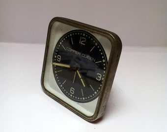 Vintage Copper Queen Alarm clock Retro alarm clock  /Antique/1960s/Mid century