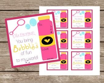 Bubble Valentine-Digital File-Instant Download