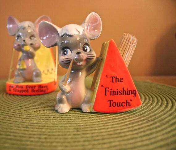 Vintage novelty mice toothpick holder by hootenannieshideaway - Novelty toothpicks ...