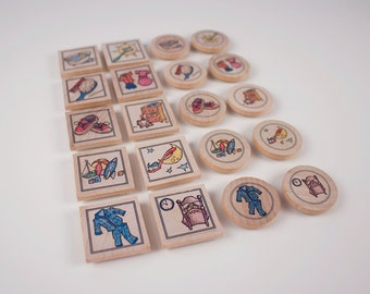 Sibling Magnet Set, Chore Chart, 2 sets of magnet chores