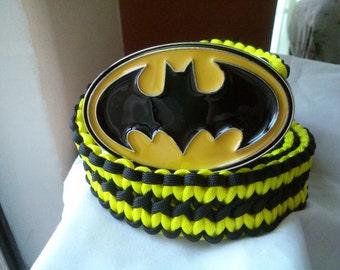 Handmade paracord belt with Batman buckle.