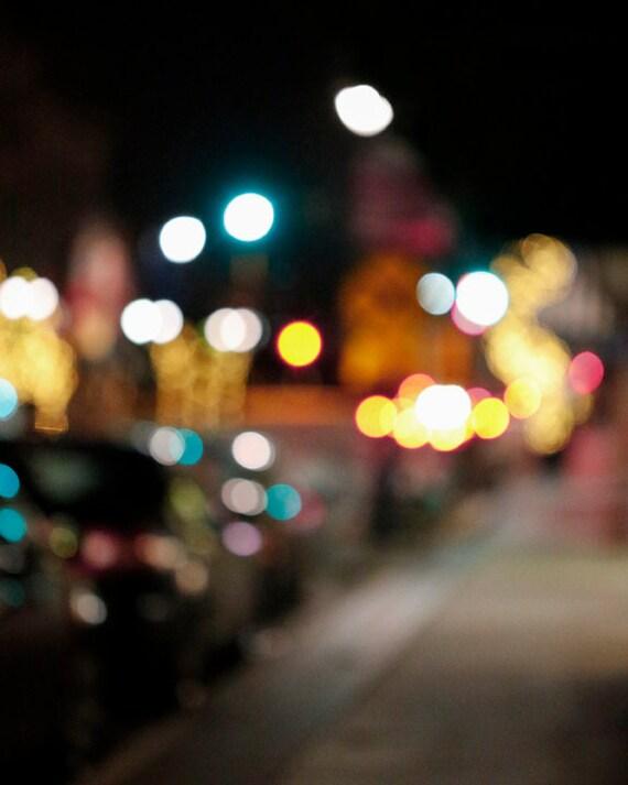 Items similar to Blurred Lights Photo - Night Life ...  Items similar t...