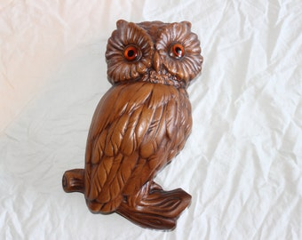 Vintage ceramic owl wall decoration